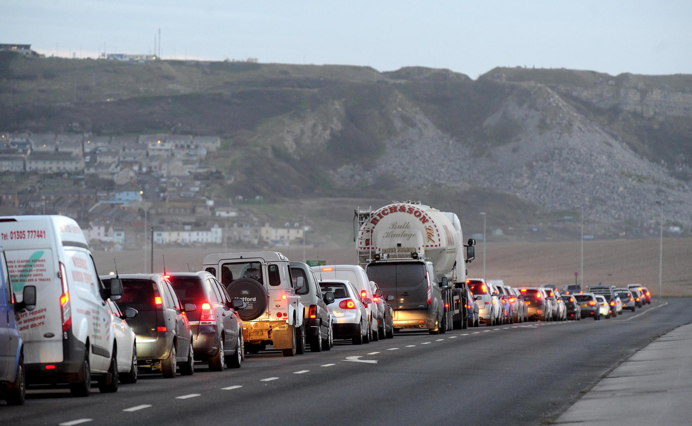 GRIDLOCK: Traffic queues up on Portland Beach Road during major works this year