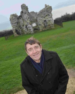 Coun Doug Hollings at Sandsfoot Castle