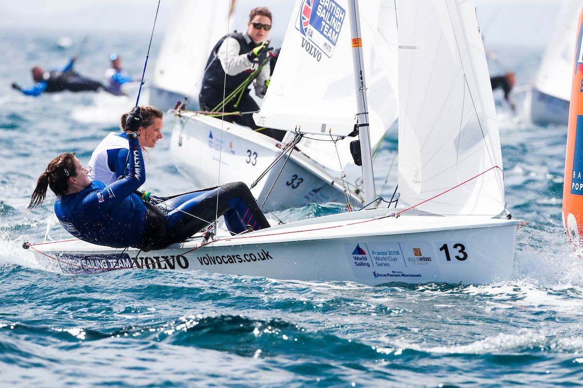 IN CONTENTION: Portland-based Hannah Mills and partner Eilidh McIntyre are second in the 470 class