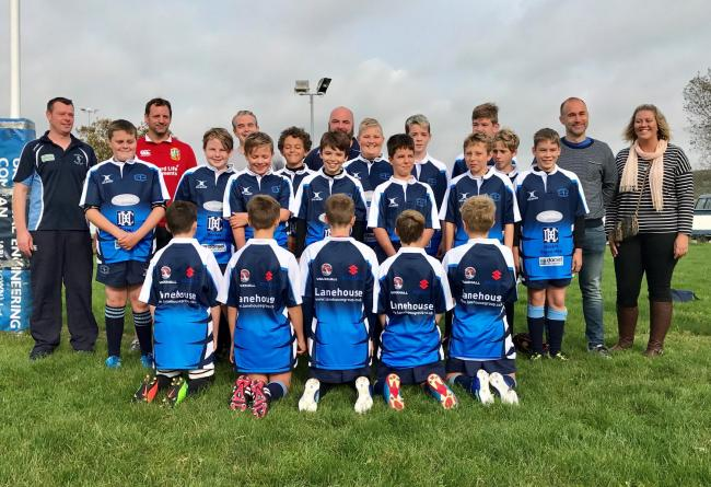 DRIVEN: Weymouth & Portland Under-12s with sponsors from Lanehouse