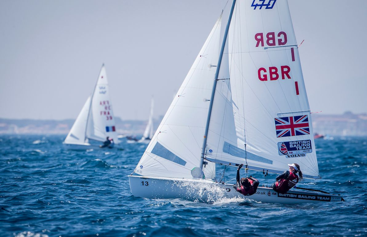 GUARANTEED SECOND: Hannah Mills and Eilidh McIntyre Picture: JESUS RENEDO/SAILING ENERGY/WORLD SAILING