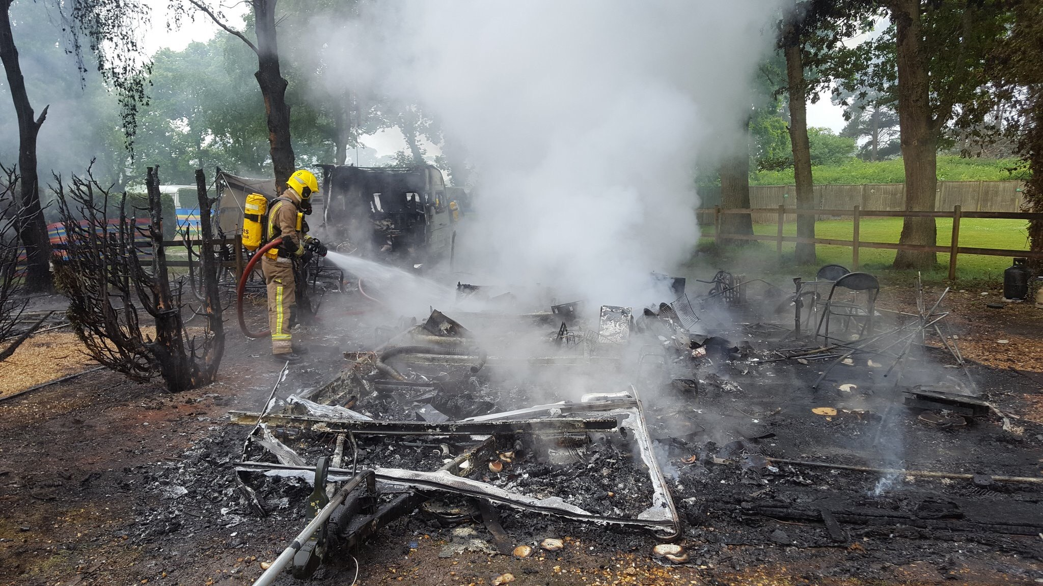 SHOCKING: Pictures released by the fire service show the aftermath of the fire at Sanford Holiday Park