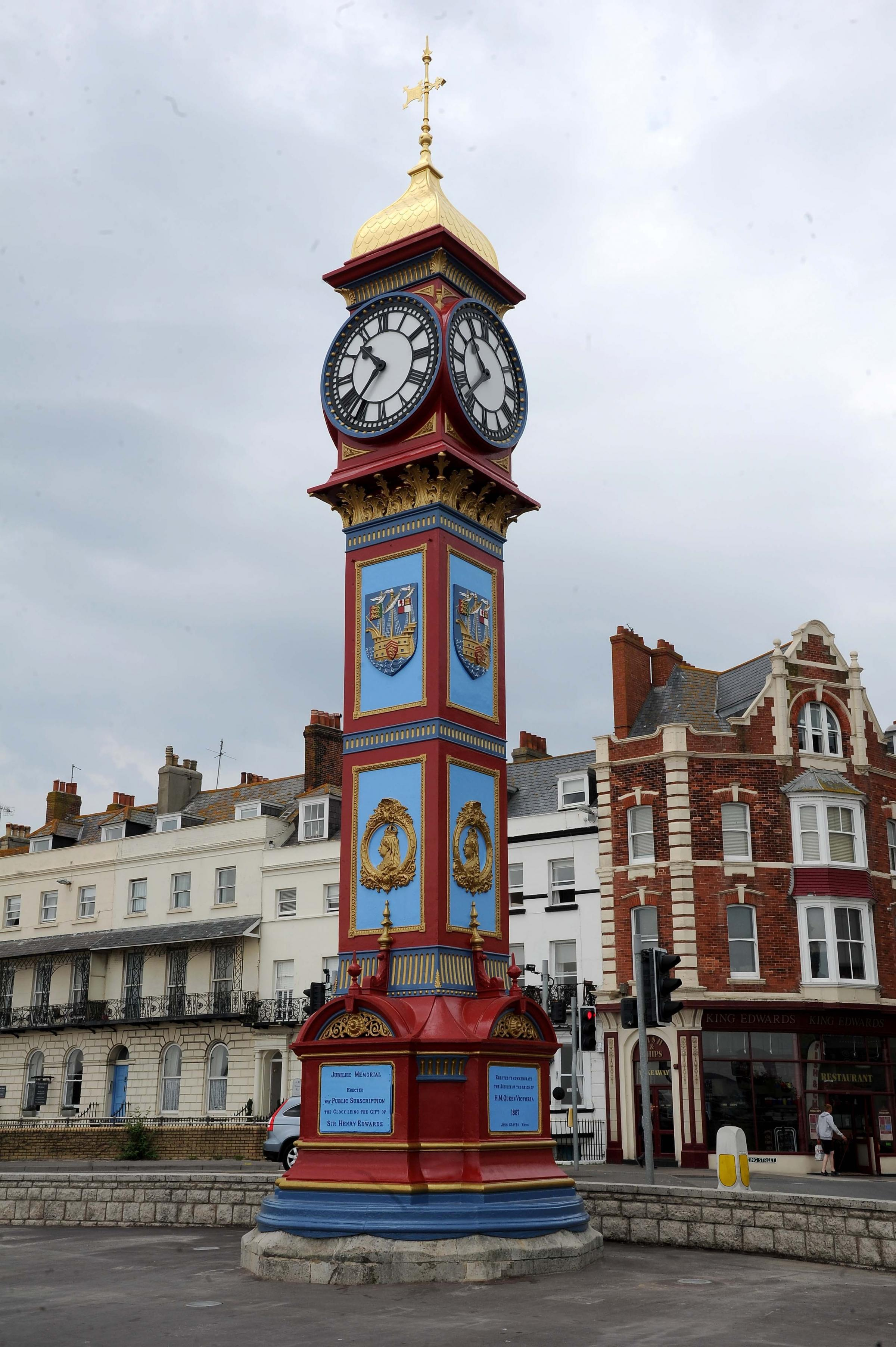 Jubilee Clock on Weymouth seafront, 12/06/18, PICTURE: FINNBARR WEBSTER/F19708
