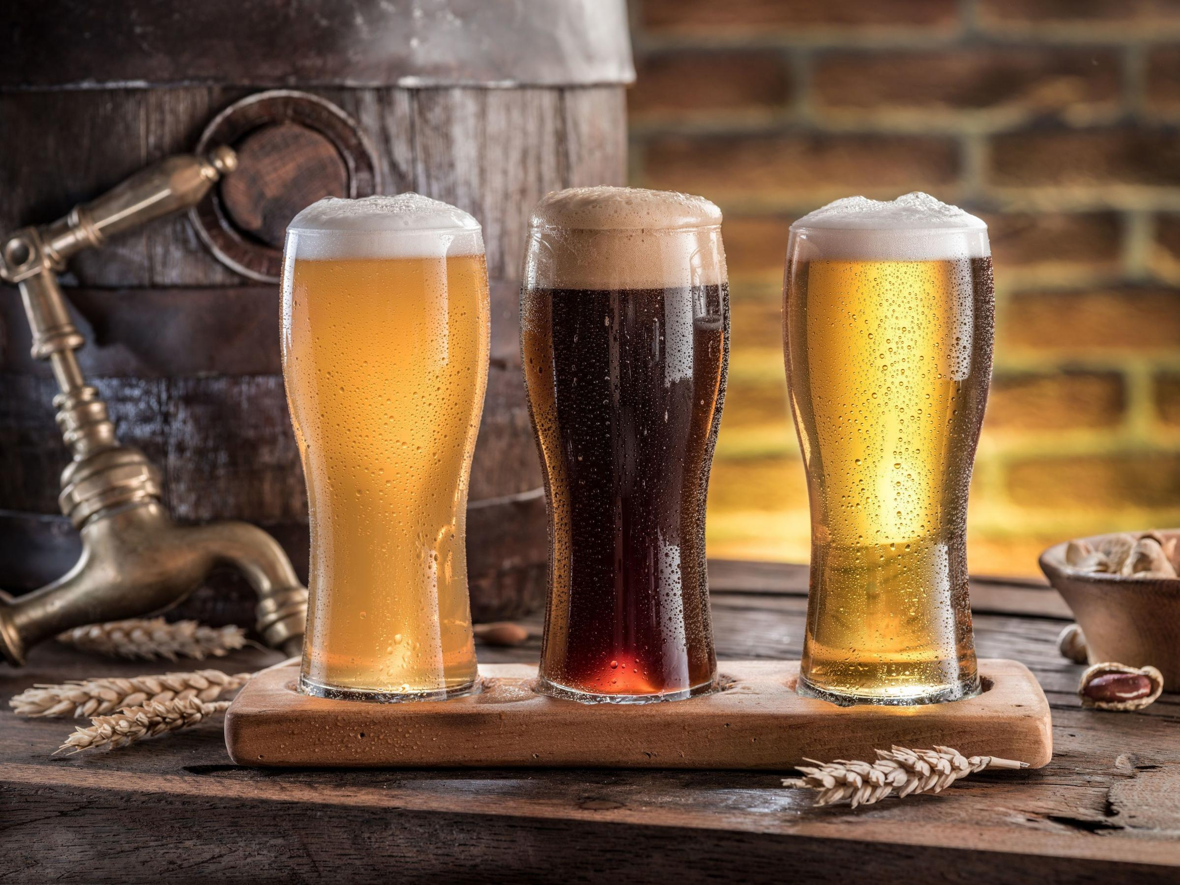 A generic photo of pints of beer on a wooden table. See PA Feature TOPICAL Wellbeing Beer. Picture credit should read: PA Photo/thinkstockphotos. WARNING: This picture must only be used to accompany PA Feature TOPICAL Wellbeing Beer
