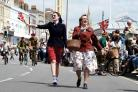 Military and veterans fest Weymouth, service and parade on seafront, 21/06/2015, PICTURE: FINNBARR WEBSTER/F17449.