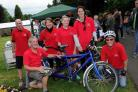 Dorchester Carnival 2018, Charity tandem cyclists from Dorchester Disabled Club, 16/06/18, PICTURE: FINNBARR WEBSTER/F19729