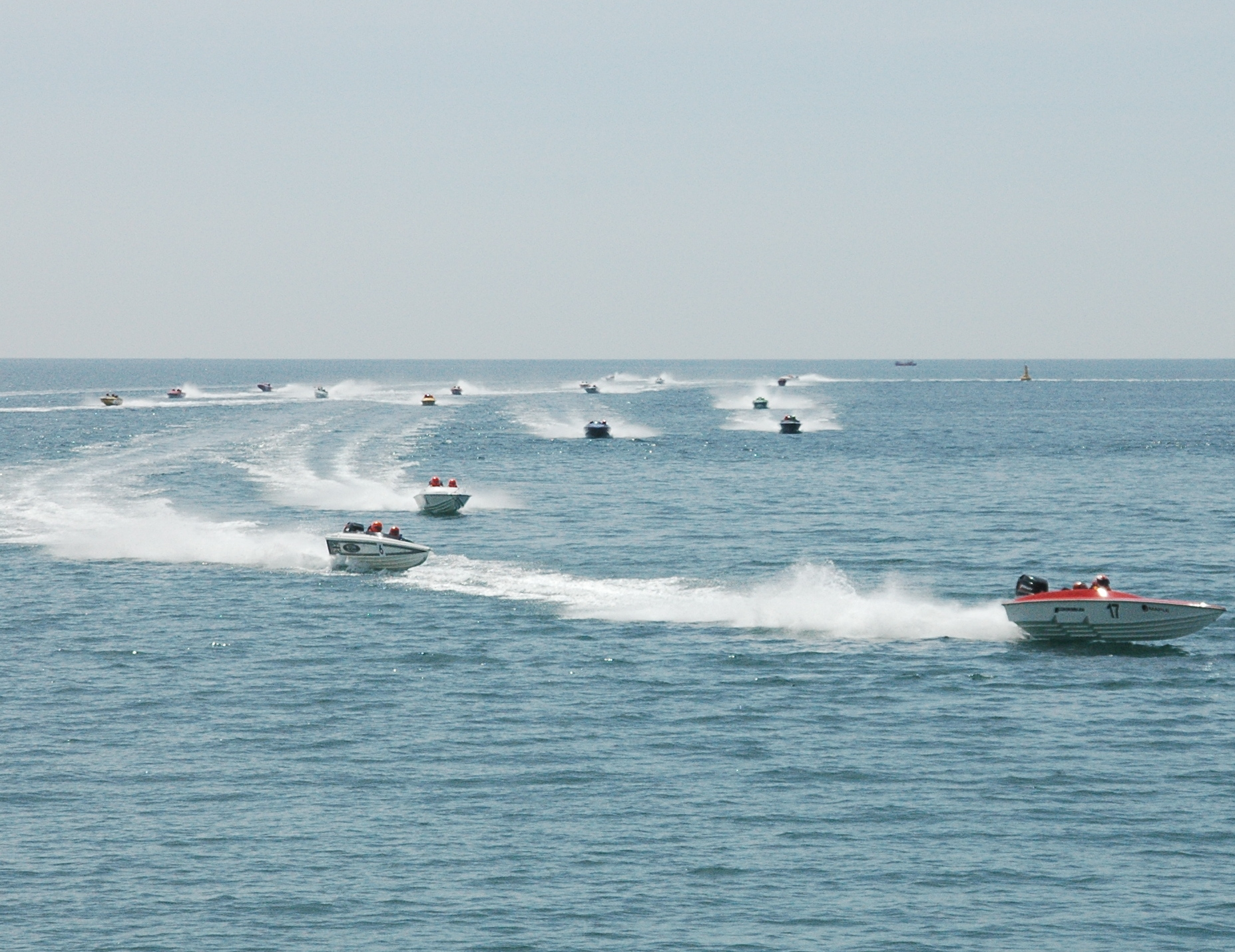 EXCELLENT CONDITIONS: Competitors race at West Bay Picture: AQUA ADRENALINE