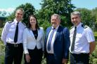 L-R: Chief Constable Shaun Sawyer, of Devon and Cornwall Police, Devon and Cornwall police and crime commissioner Alison Hernandez, Dorset's PCC Matyn Underhill and Chief Constable James Vaughan