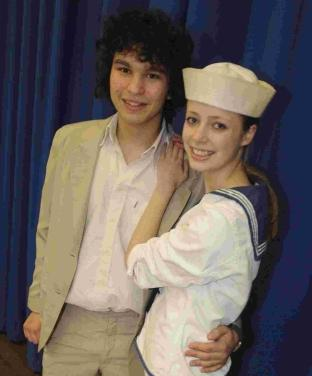 Xavier Barsky (Emile De Becque) and Zoe Day (Nellie Forbush)