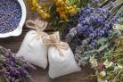 Lavender pouches, dried lavender and other herbs