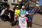 CELBRATION: Campaigners in Bridport marked the 70th anniversary of the NHS Picture: BRIDPORT AND DISTRICT LABOUR PARTY