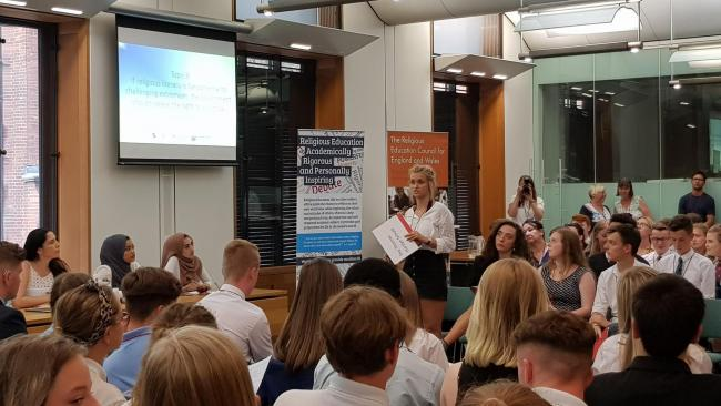 DEBATE: Students attended parliament to debate RE in schools