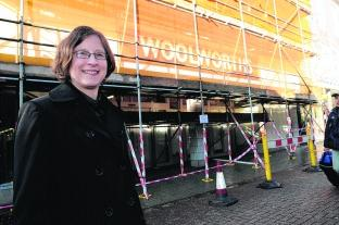 Wellworths store manager Claire Robertson outside the shop in South Street, Dorchester