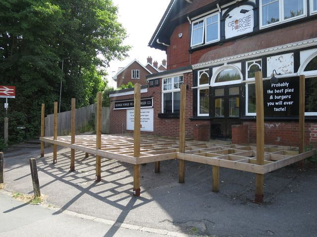 Decking at The Georgie Porgie Pie and Burger Co in Dorchester Picture: TREVOR BEVINS