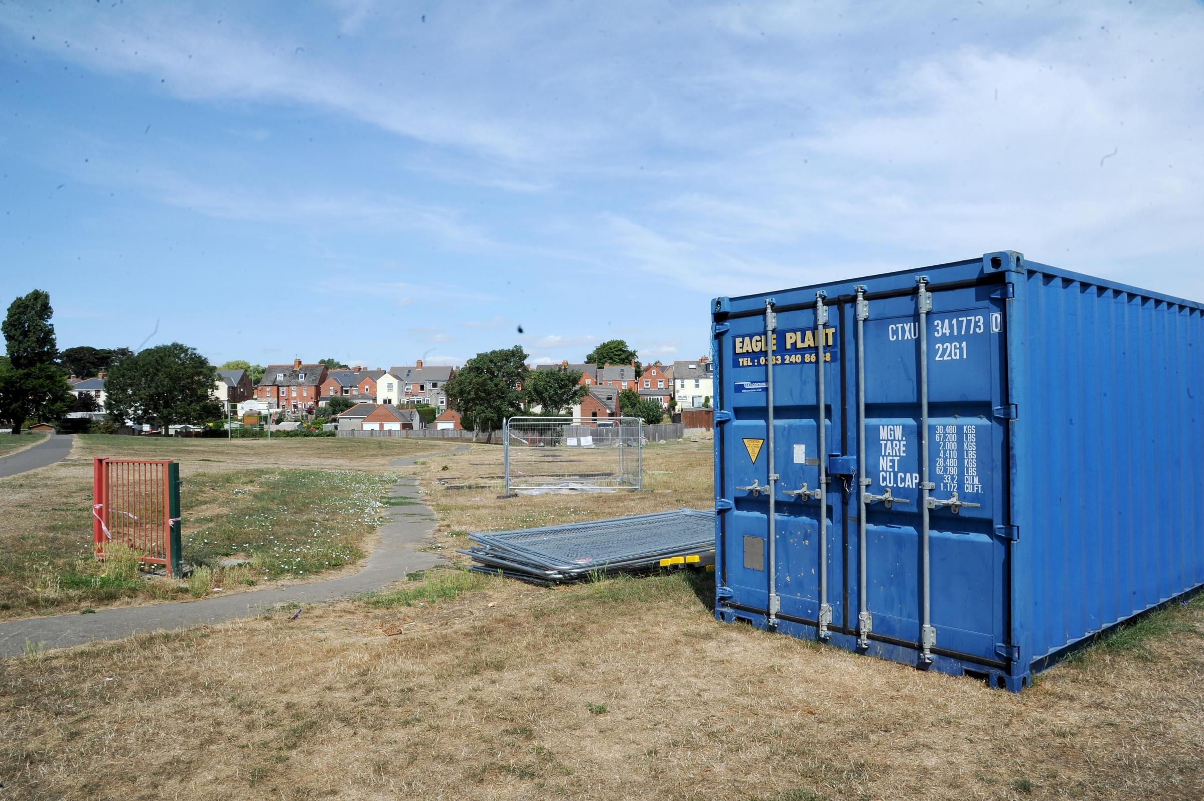 SITE: Area of new play park behind Weymouth swimming pool