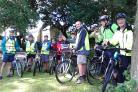 Churchgoers getting stuck into last year's Ride and Stride event