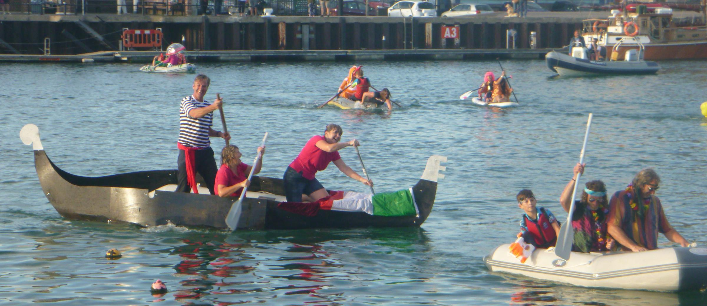 FANCY DRESS FUN: Weymouth Sailing Club held their annual tender race in Weymouth Harbour to kick off the Weymouth Regatta weekend