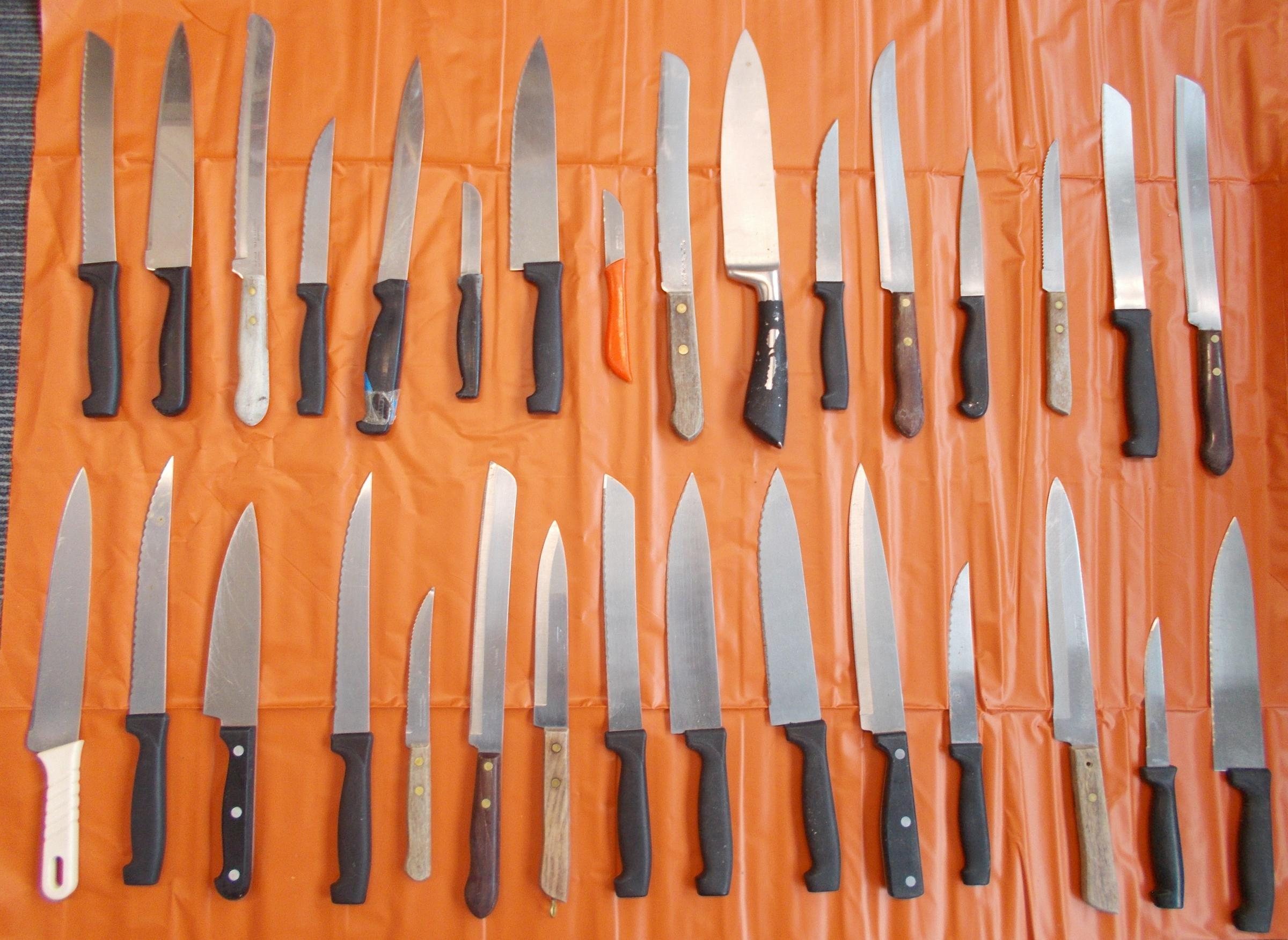 some of the knives and bladed weapons anonymously disposed of during the last two Operation Sceptre knife amnesties held in Dorset.