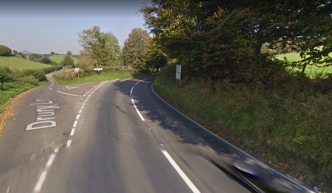 Road closed after crash between motorbike and car on A3066