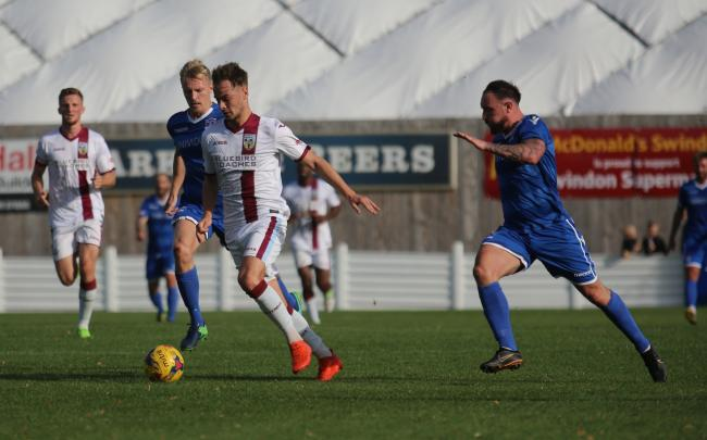LATE WINNER: Brandon Goodship hit a crucial late goal for Weymouth                                          Picture: MARK PROBIN