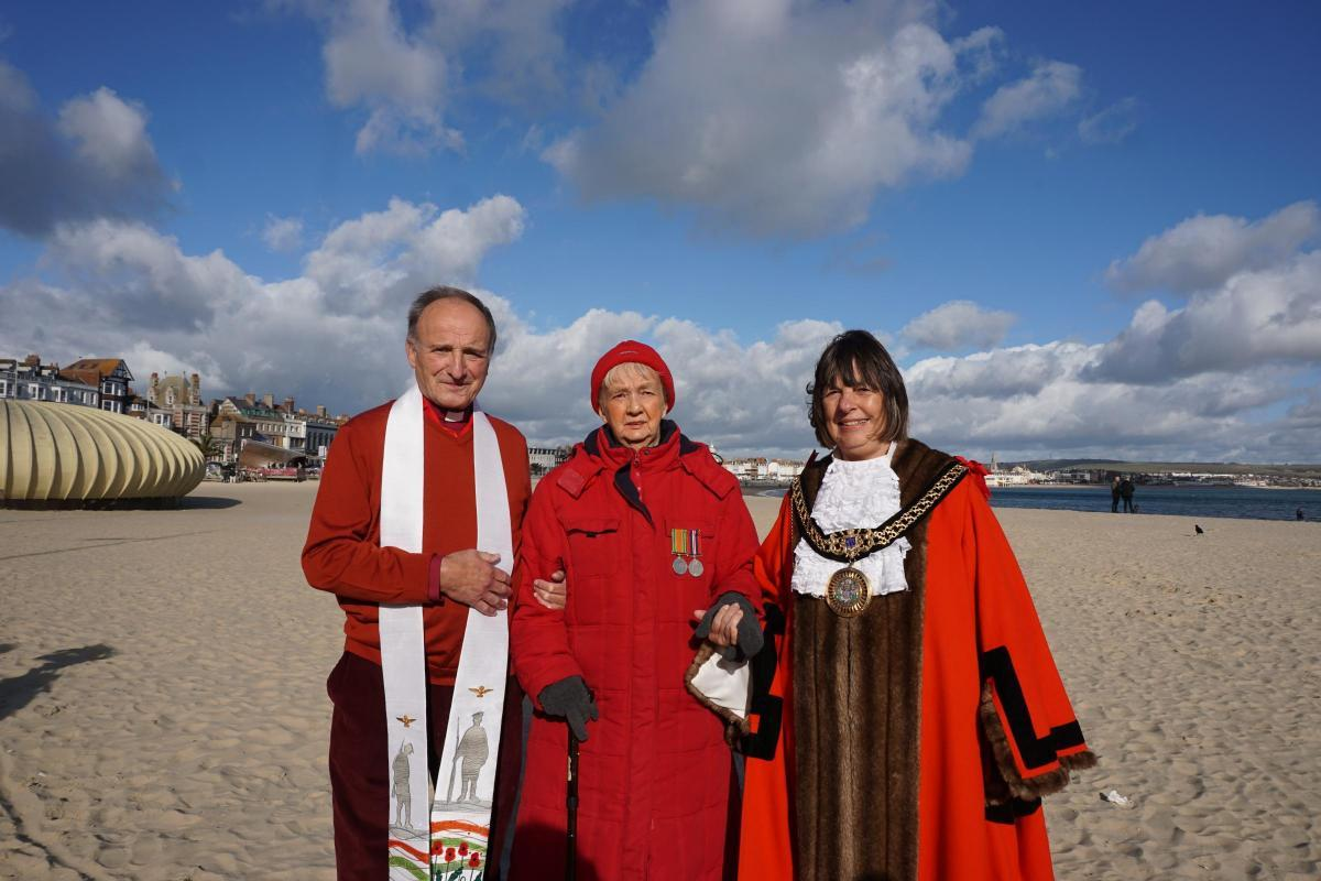 From left: Rev Dennis Mould, Sylvia Prior and Cllr Gill Taylor, Mayor of Weymouth and Portland. Picture: Katie Williams