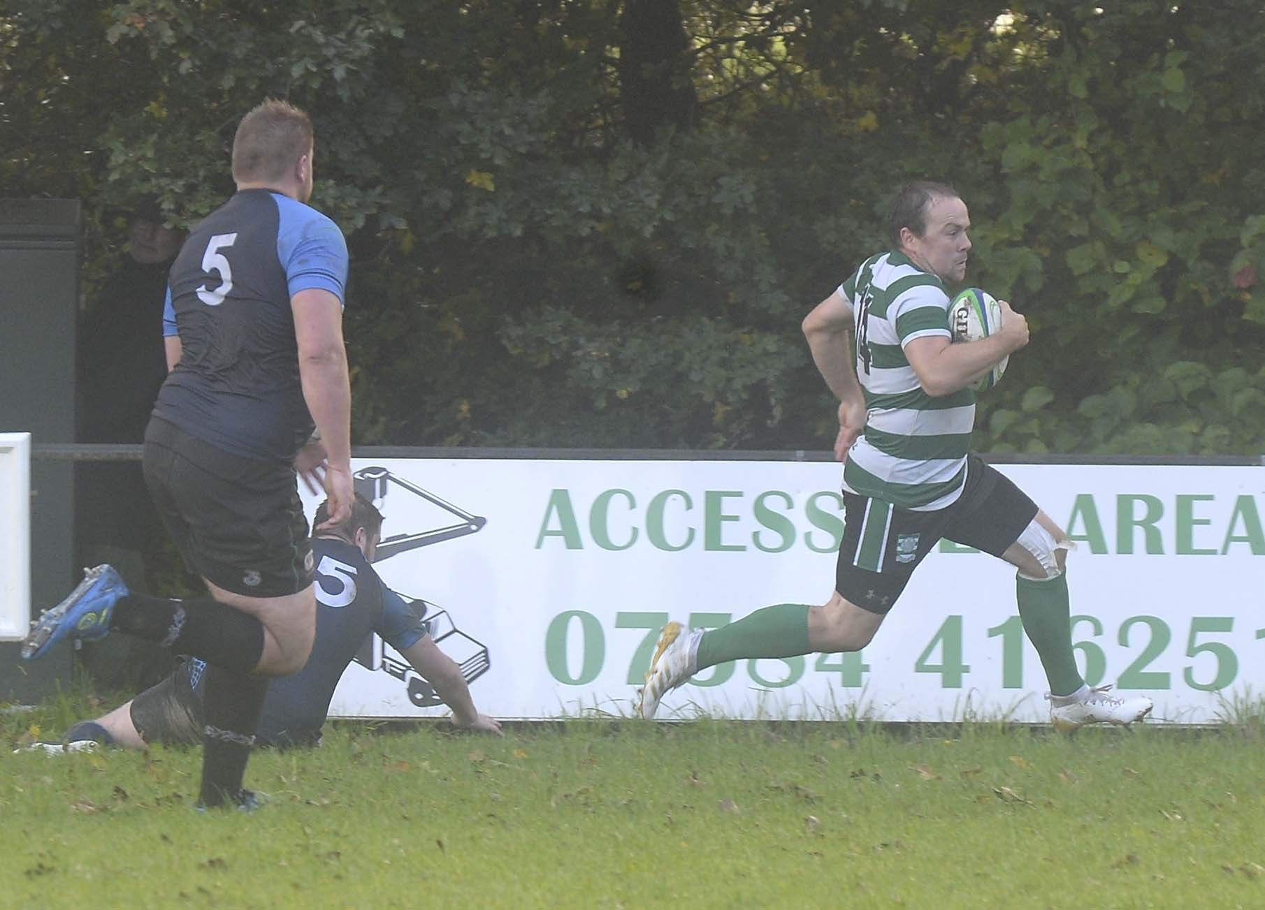 SOLE TRY: James Baker scored for Dorchester Picture: FINNBARR WEBSTER/F19291