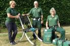 Community First Responders with a Raizer emergency lifting chair