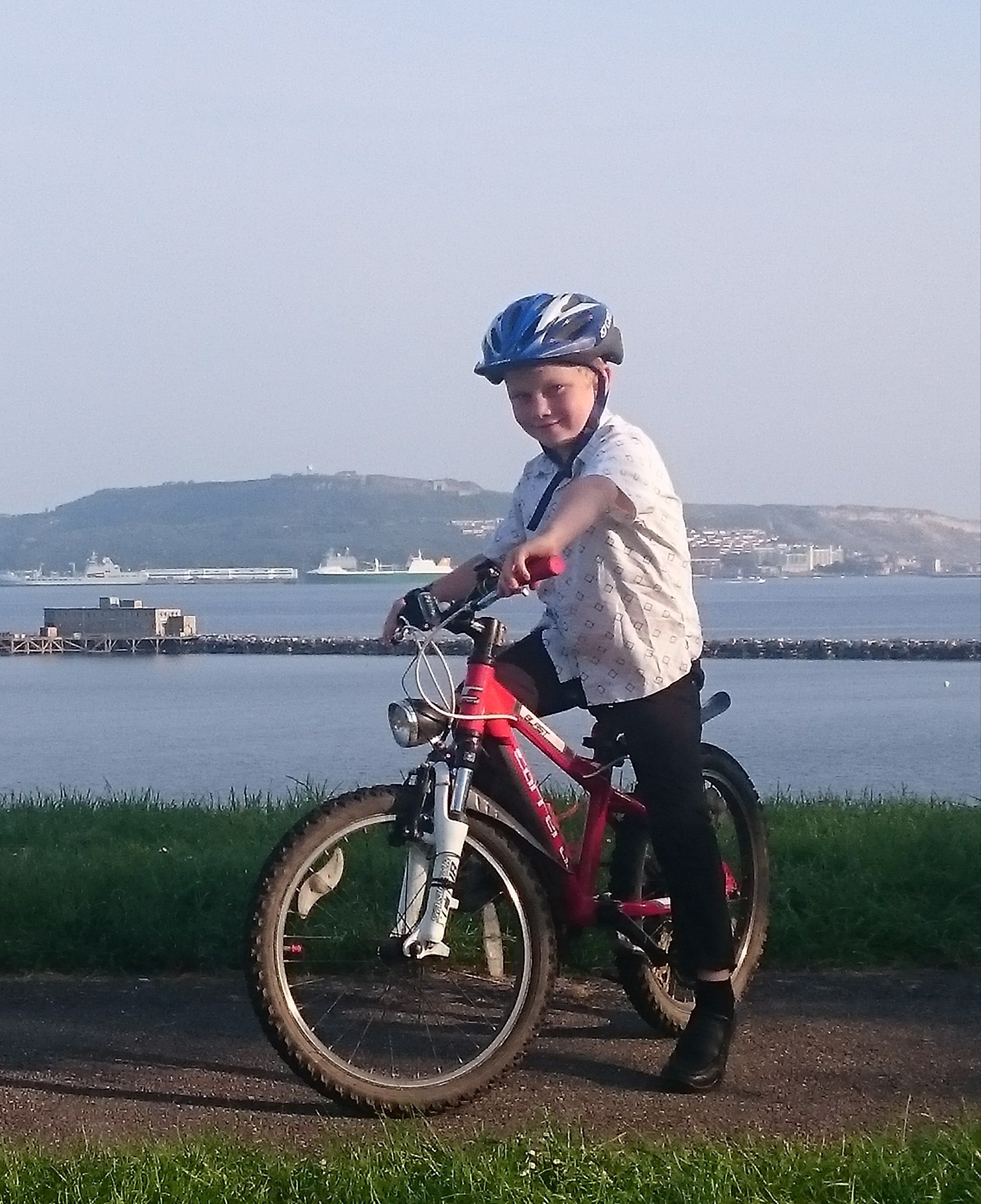 CYCLE CHALLENGE: Eight-year-old William Brook, a pupil at Thorner's Primary School, is taking on a 10-mile cycle ride to raise money for his school.