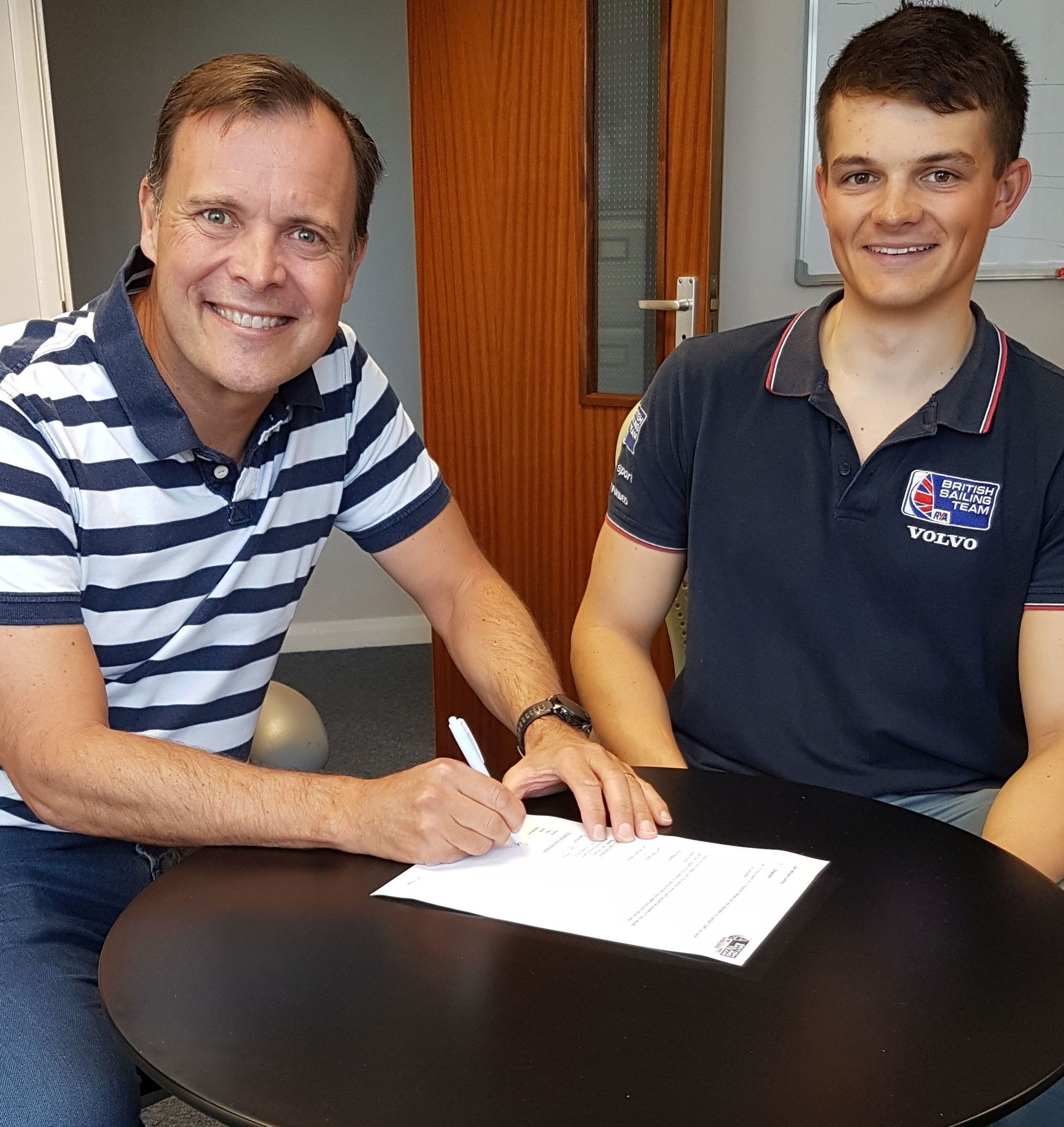 SUPPORT: Phil Whitehurst, Actisense CEO, with Sam Whaley of British Sailing Team