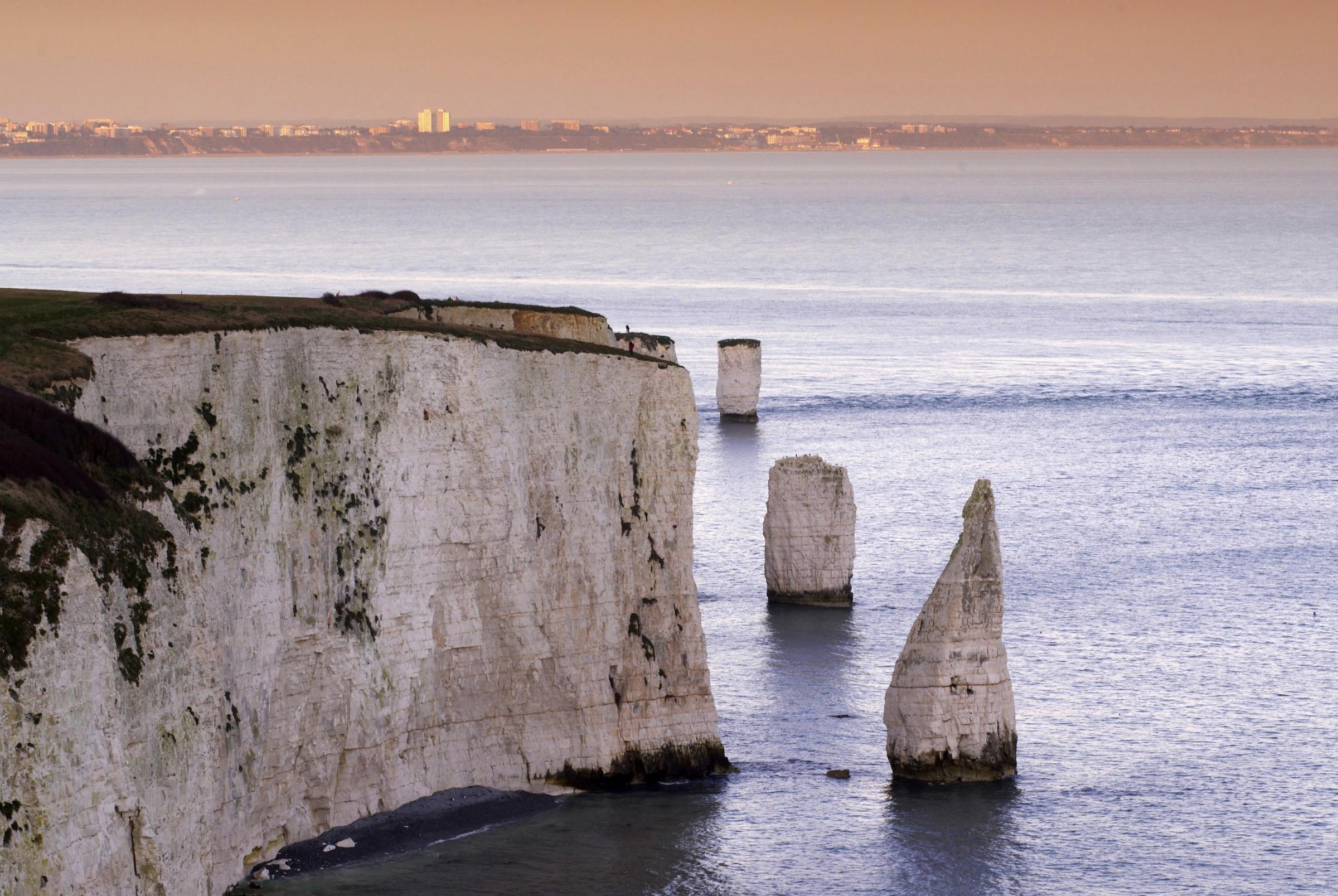 Dorset Magic/Landmark Picture.  The Pinnacles on Dorset's Jurassic Coast Near Swanage.  270108, Picture: GRAHAM HUNT/HG3263.