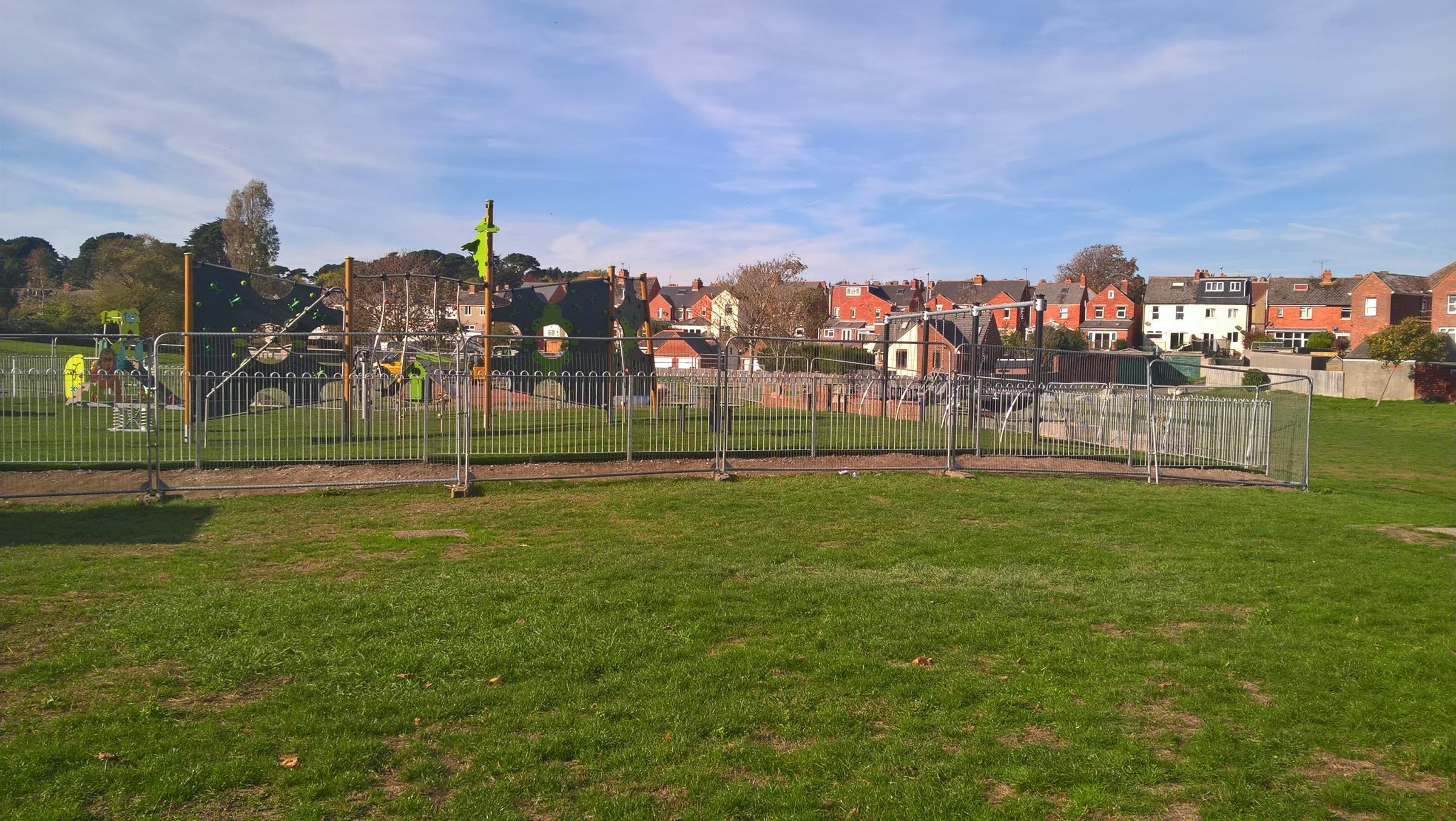 The new playpark on The Marsh
