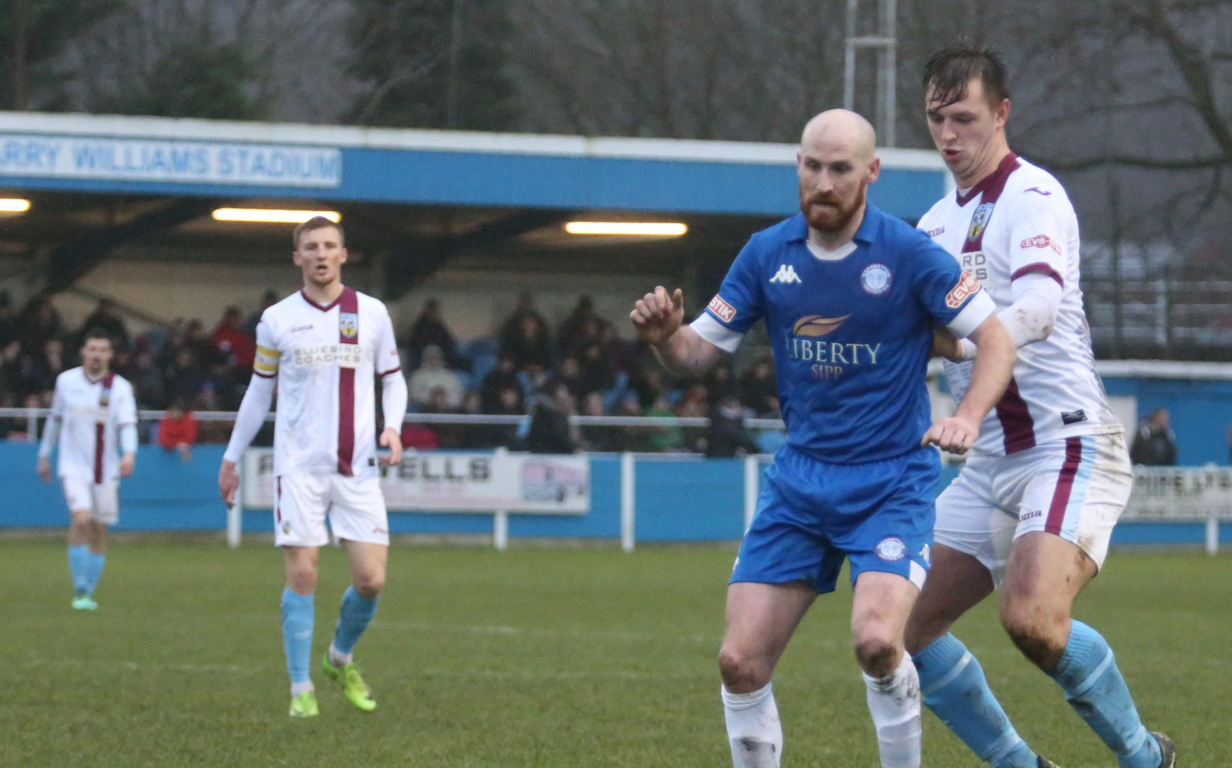 TOUGH DAY: Weymouth manager Mark Molesley admitted they were below par against Ramsbottom                                              Picture: MARK PROBIN