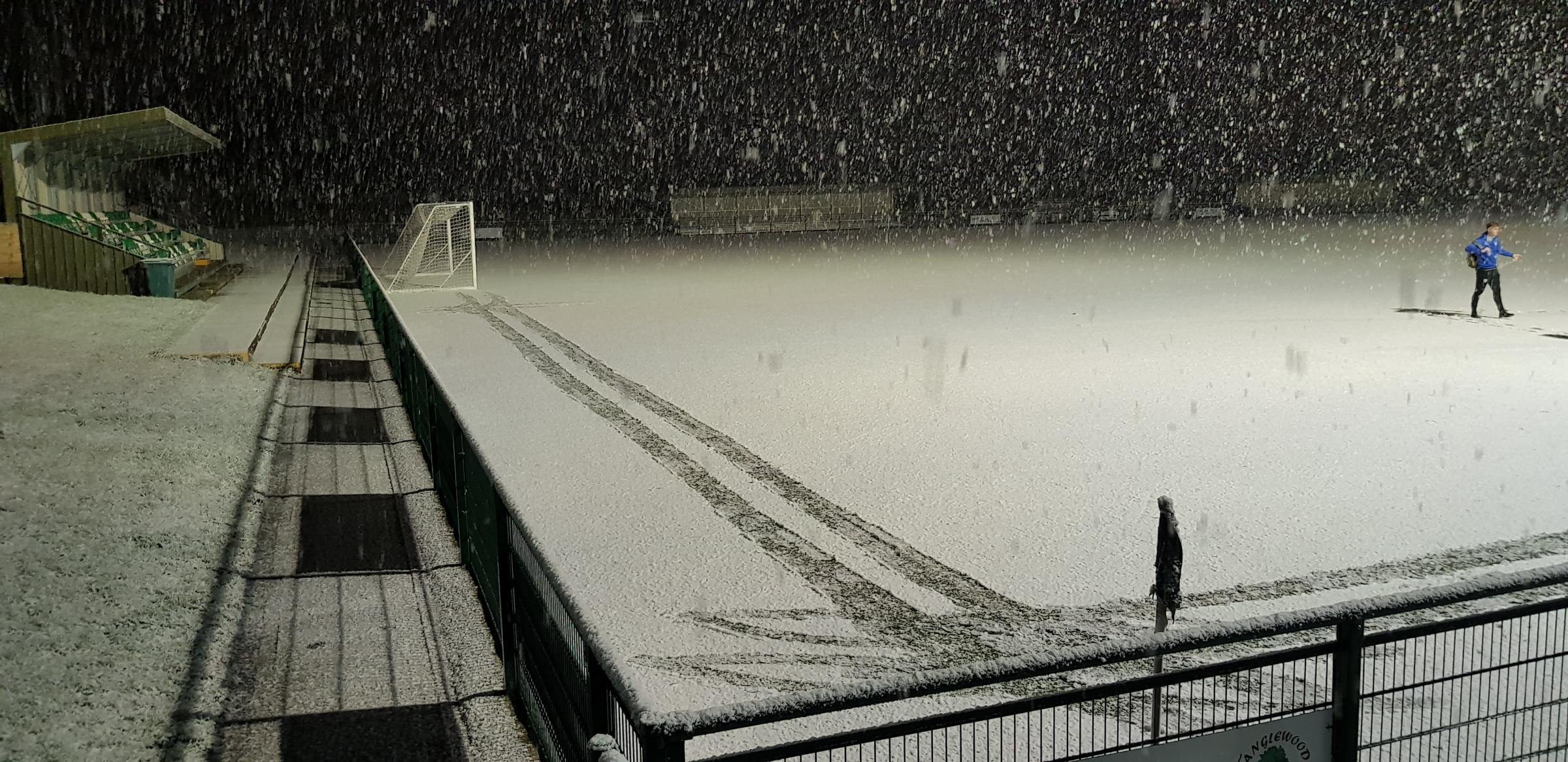 DISAPPOINTED: Weymouth were foiled by the snow Picture: MARK PROBIN
