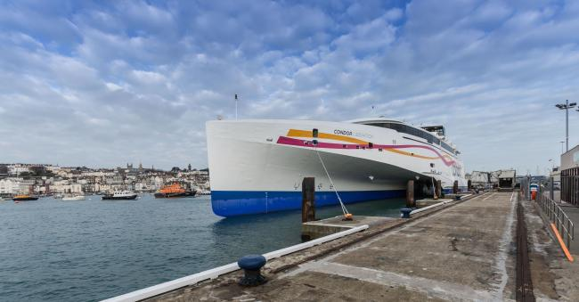Condor Liberation first official visit to Guernsey and Jersey..