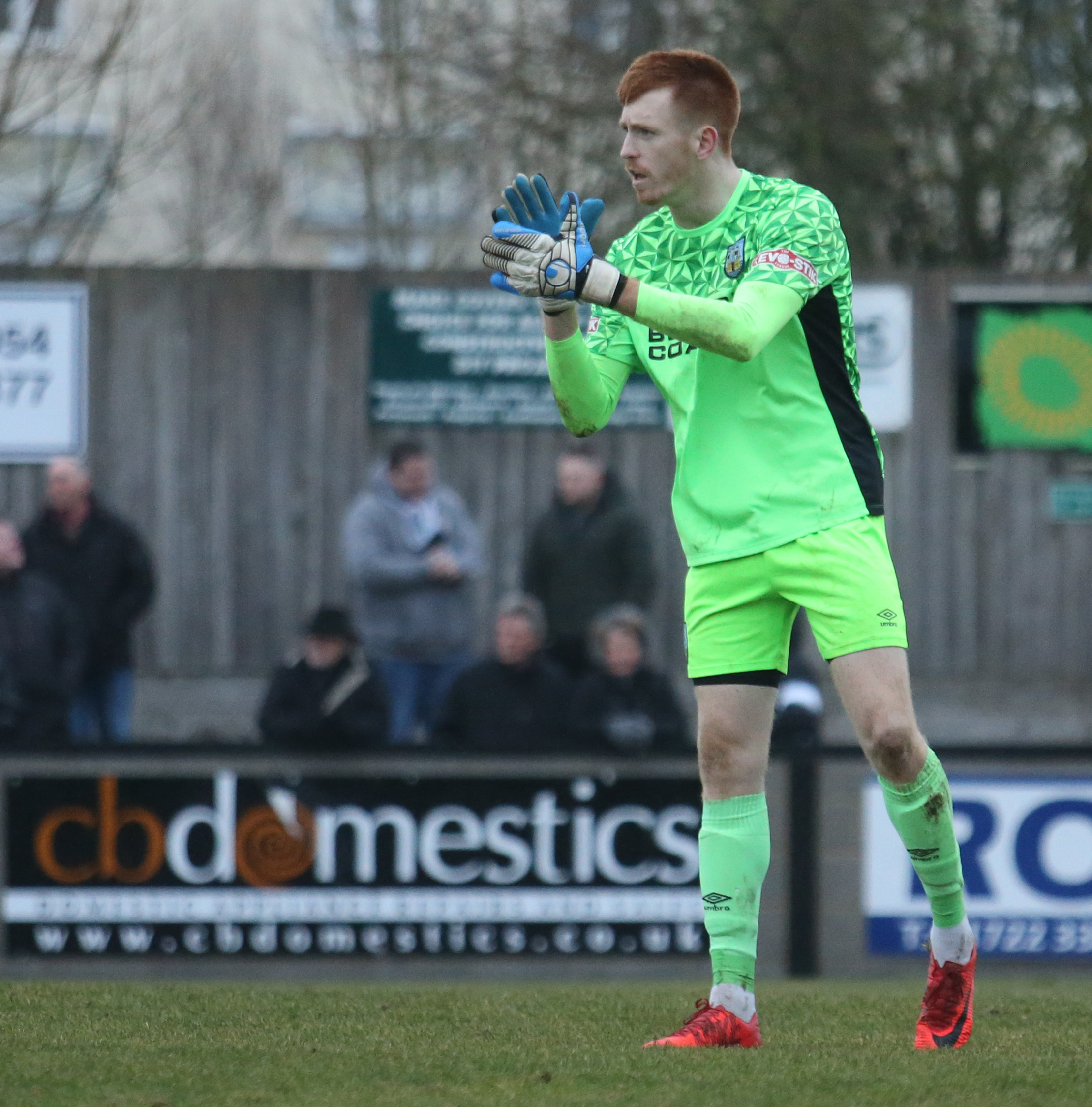 TOUGH AFTERNOON: Weymouth goalkeeper Tom McHale                             Picture: MARK PROBIN