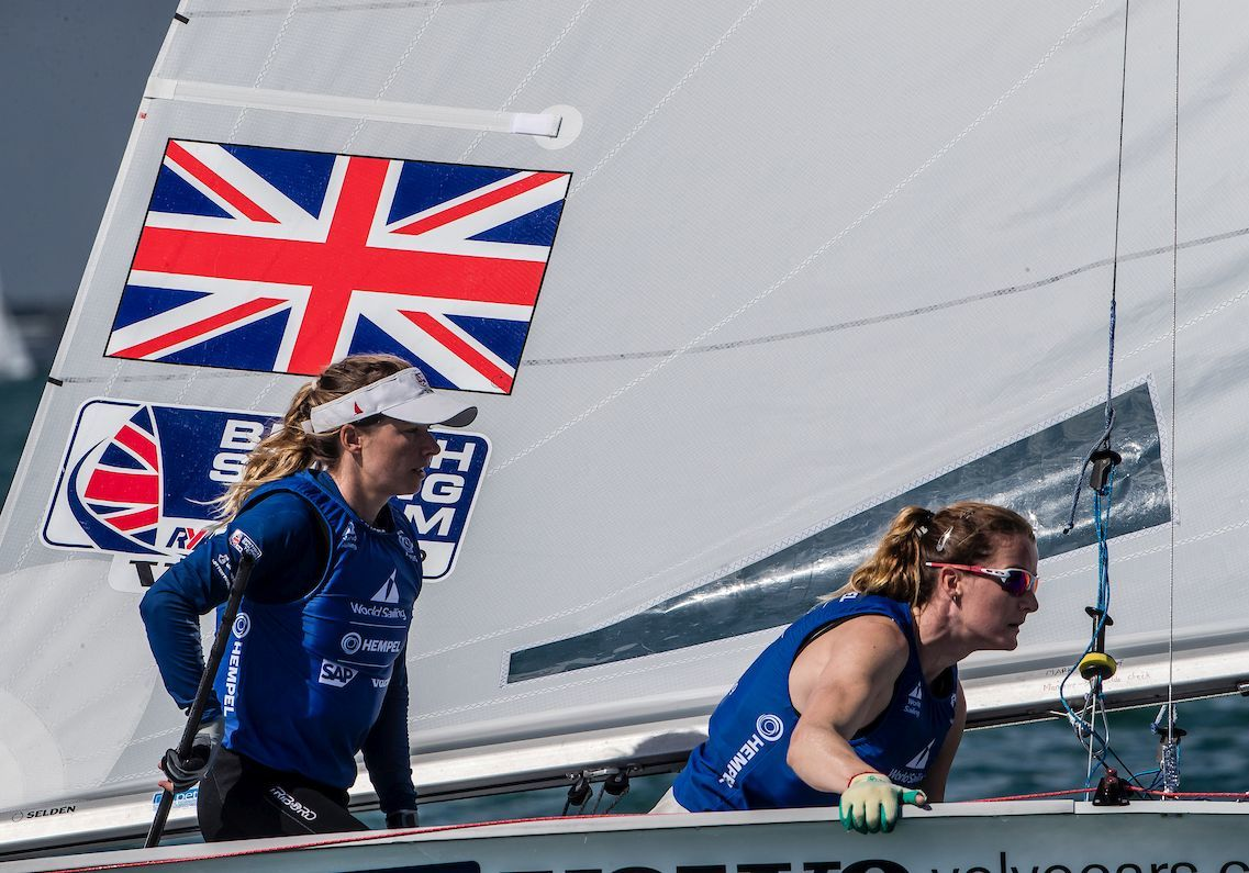 Hannah Mills, left, Eilidh McIntyre, right. Picture: WORLD SAILING/SAILING ENERGY