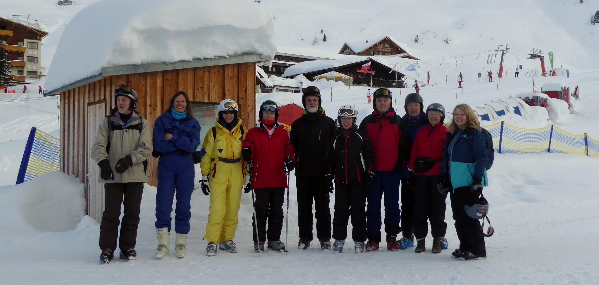 AUSTRIAN ALPS: Twelve members of Castle Cove Sailing Club enjoyed a superb week of skiing in St Christoph