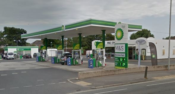 BP station on Dorchester Road, Weymouth
