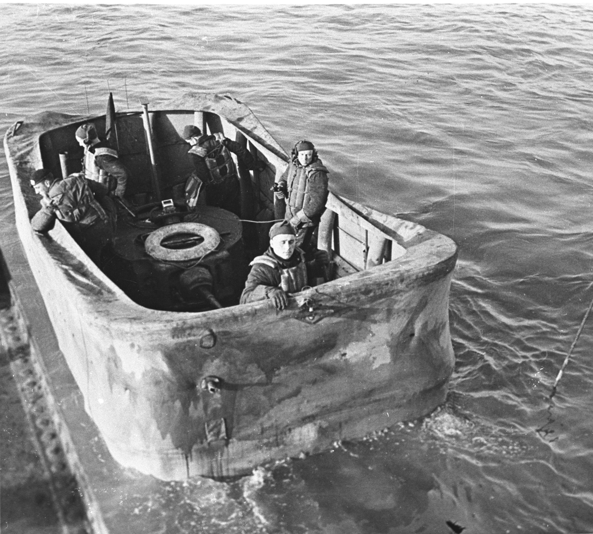 Image of Valentine Tank being launched from a landing craft, courtesy of The Tank Museum