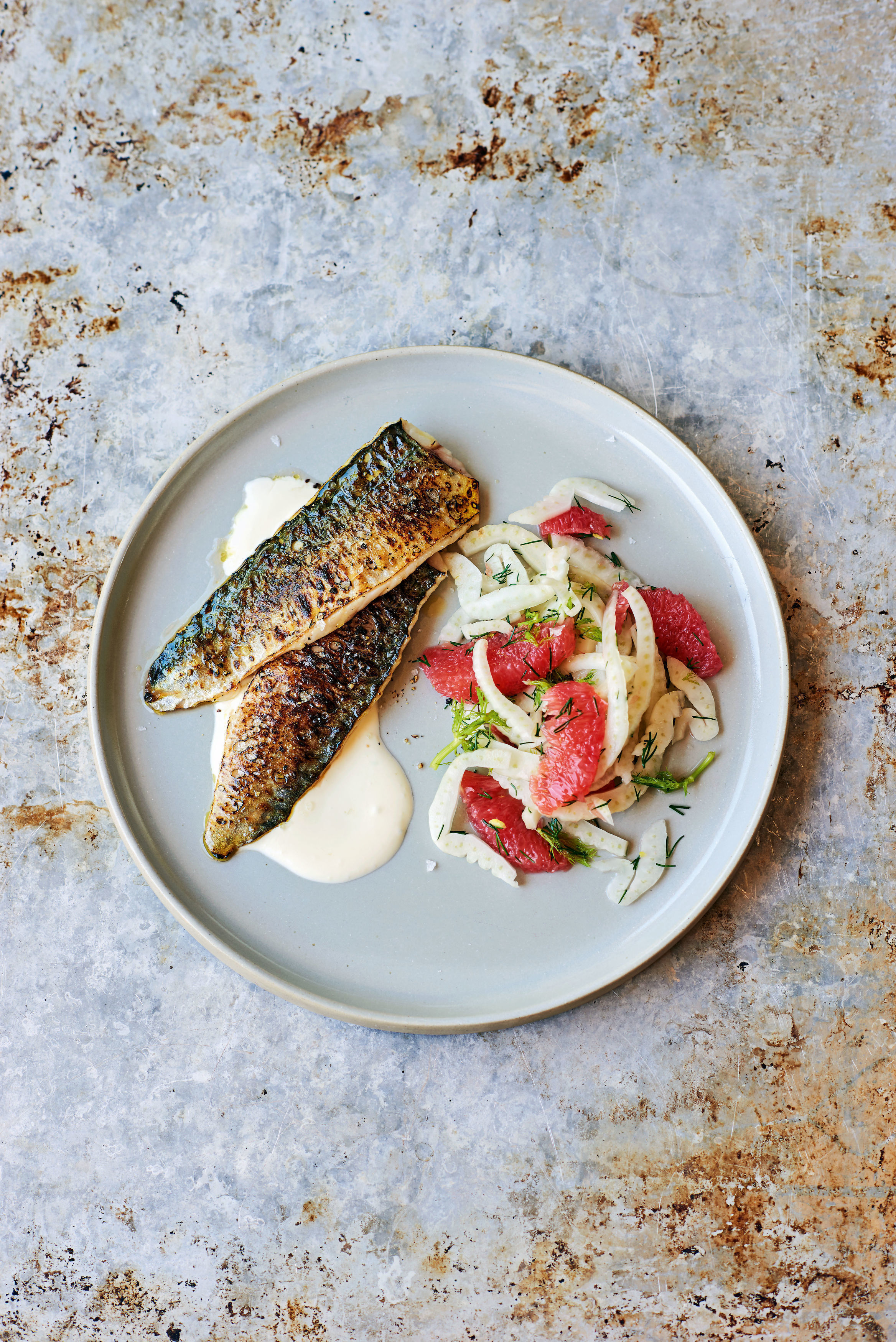 How to make James Martin's blowtorched mackerel with fennel and grapefruit salad