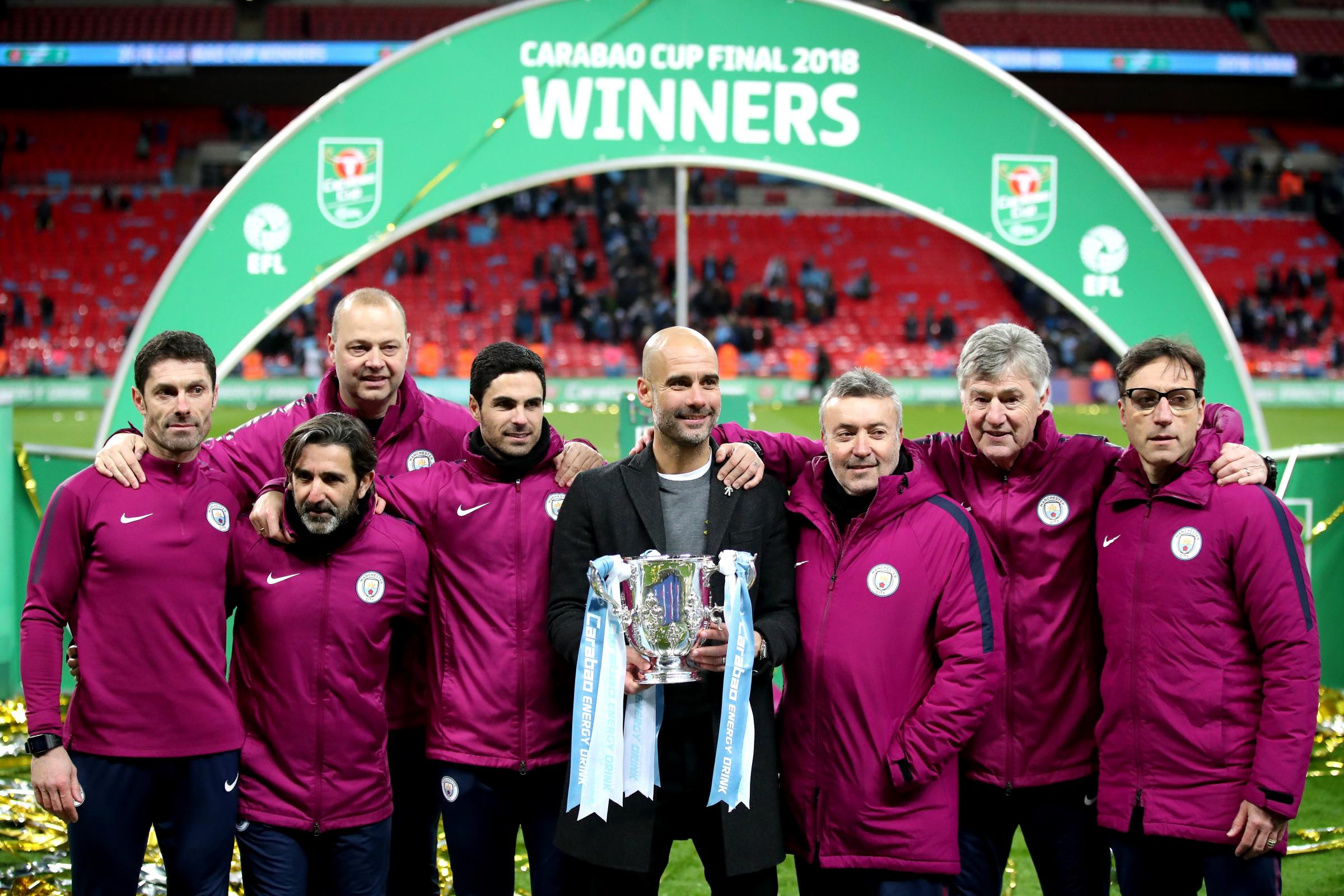 Pep Guardiola and Manchester City are bidding to retain the Carabao Cup