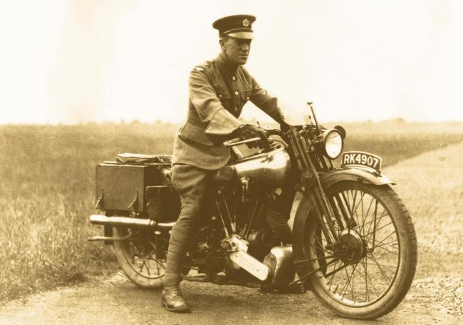 T E Lawrence on one of his Brough Superior motorcycles, Cranwell, 1925-26  Lawrence of Arabia, The Life, The Legend Imperial War Museum, London 2005