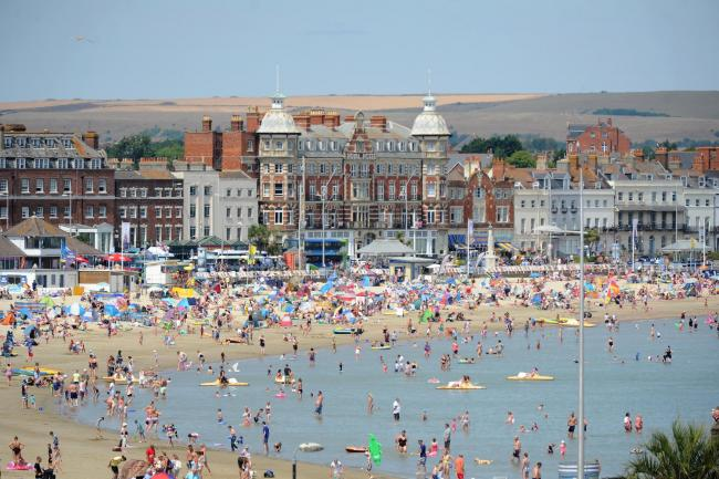 Weymouth beach and seafront, 25/07/18, PICTURE: FINNBARR WEBSTER/F19778
