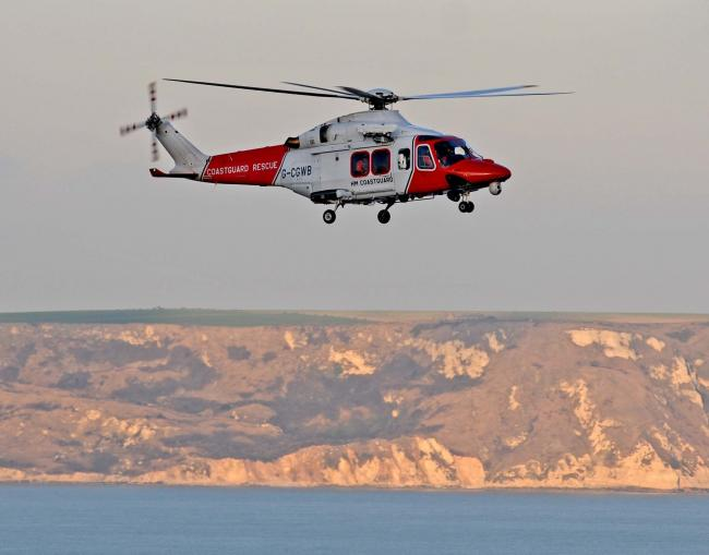 Coastguard helicopter, 150113, PICTURE: FINNBARR WEBSTER F13777