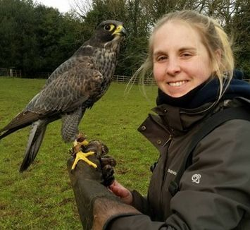 Jurassic Coast Trust ambassador, Laura Chatton, will be joined by her hawk,