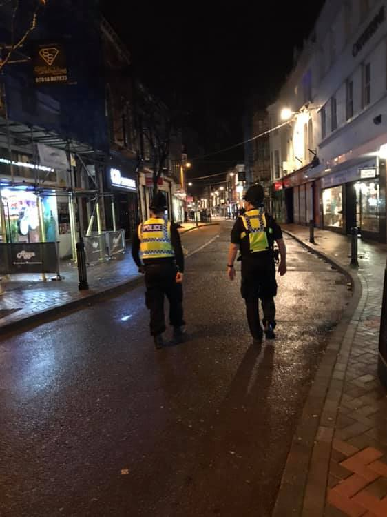 Weymouth and Portland police officers carried out patrols on Friday and Saturday night. Picture: Weymouth and Portland Police/Facebook