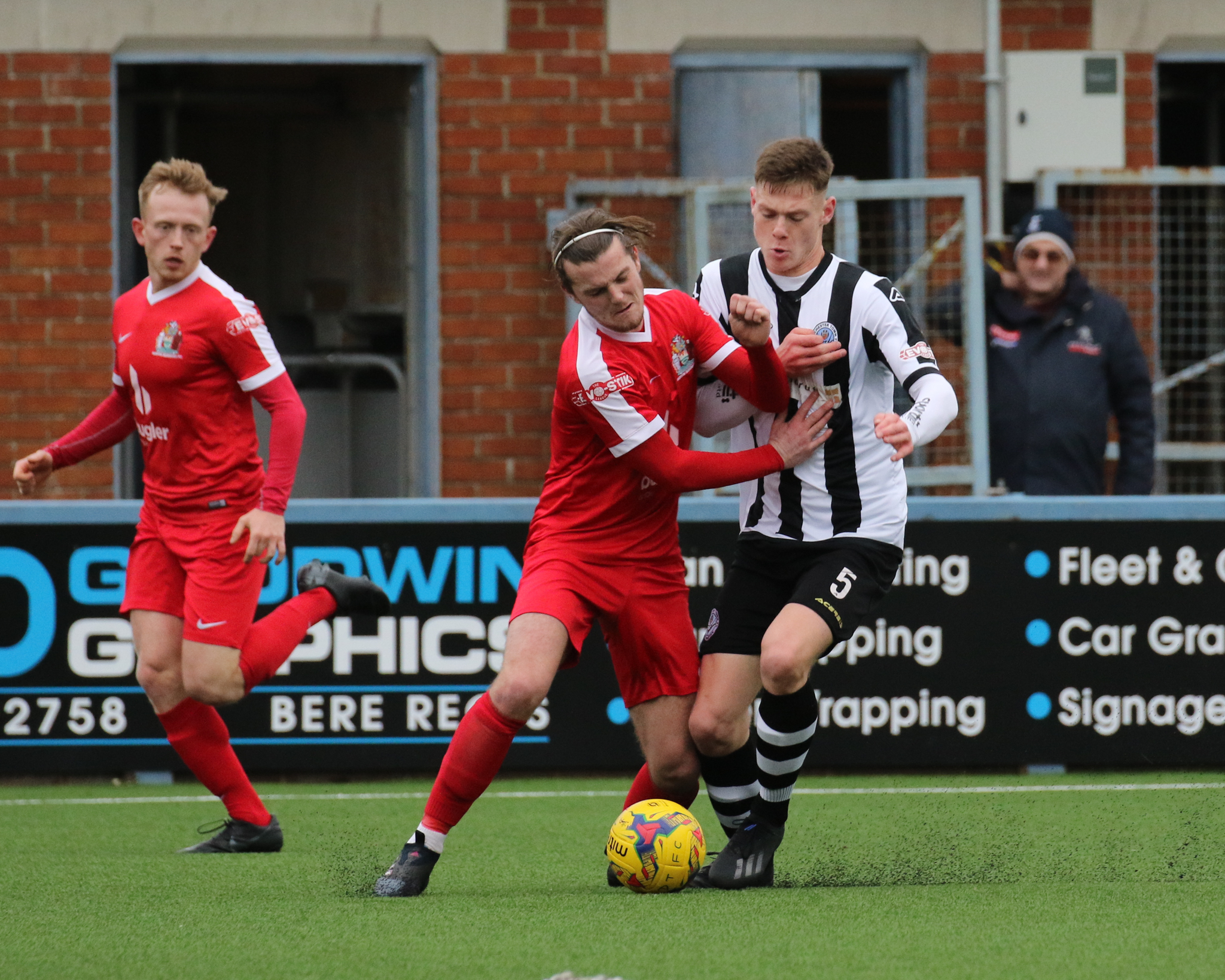 AVAILABLE: Joe Low, right, is free to play after a three-match ban           Picture: PHIL STANDFIELD