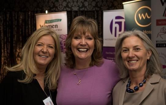 Gill Donnell, centre at the launch of the Successful Women in Business Awards. Credit: Felix Cohen Films