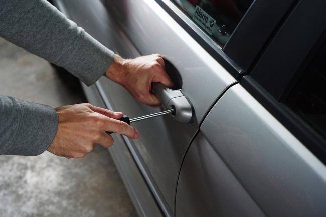 Stock image of car theft