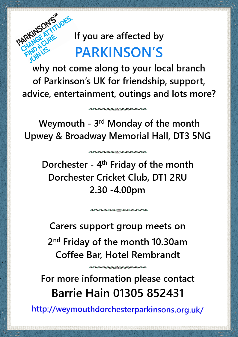 Weymouth & Dorchester Parkinson's Group Meeting